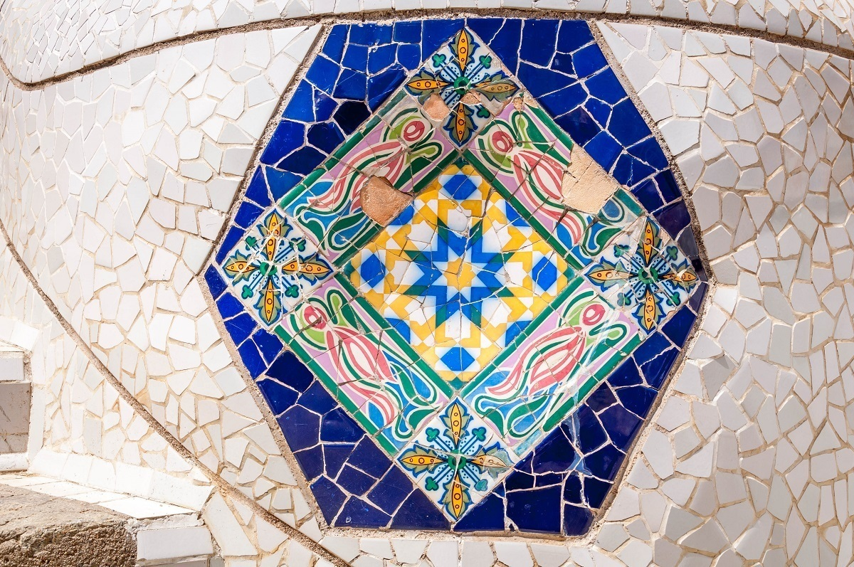 Tiles in Park Guell