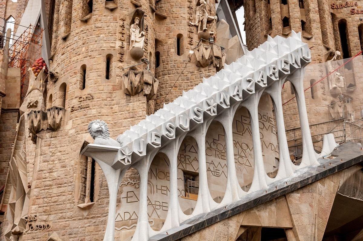 Exterior staircase detail of Sagrada Familia