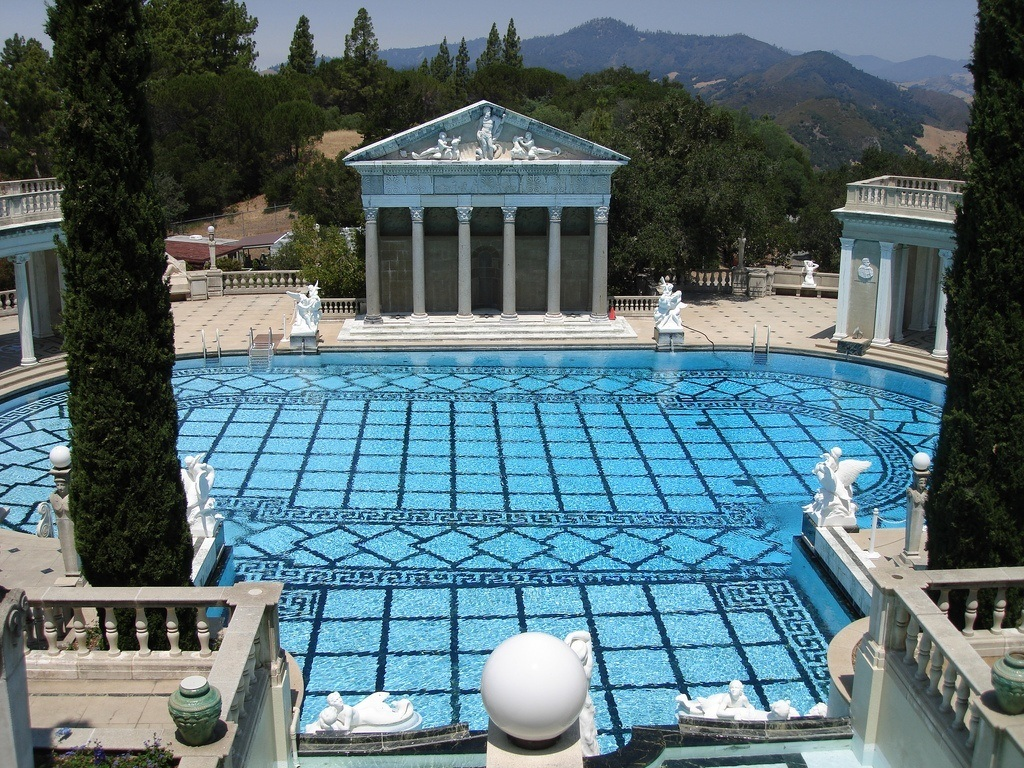 The Neptune Pool at Hearst Castle in San Simeon