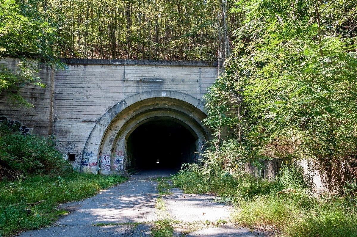 Entrance to the Rays Hill Tunnel on the Abandoned PA Turnpike