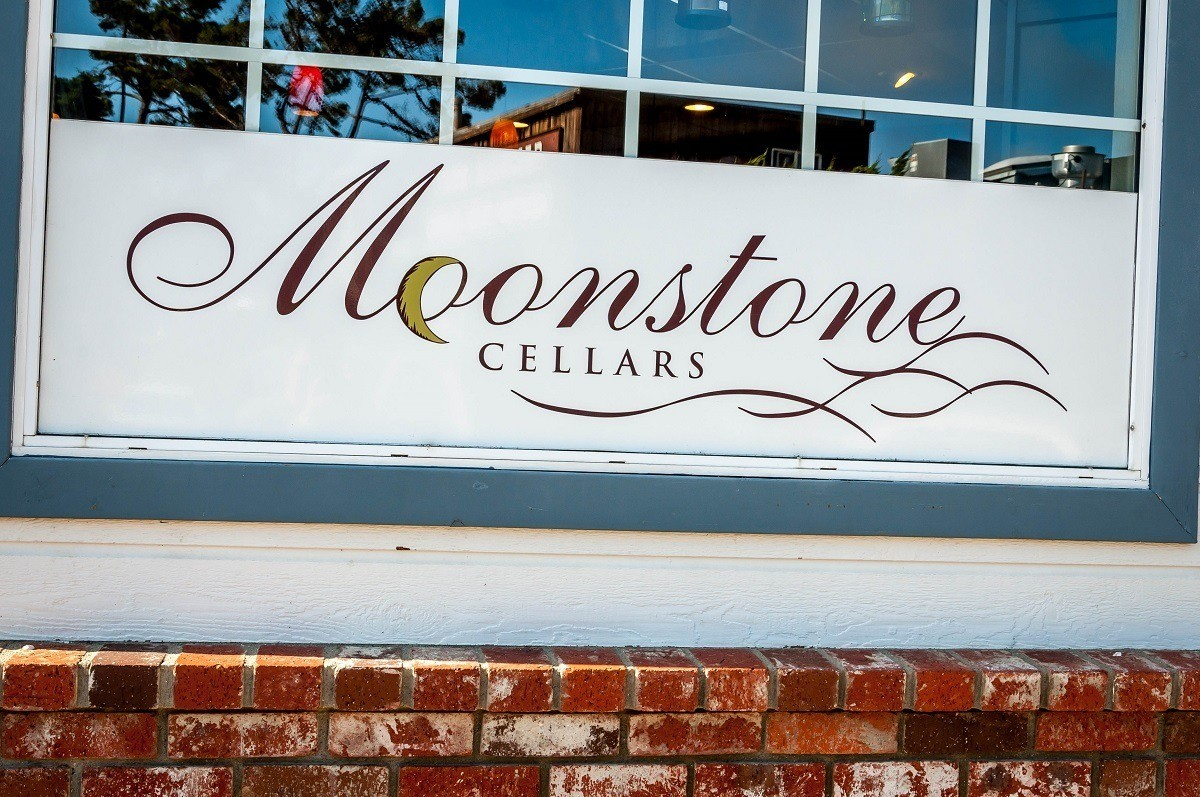 Sign for Moonstone Cellars