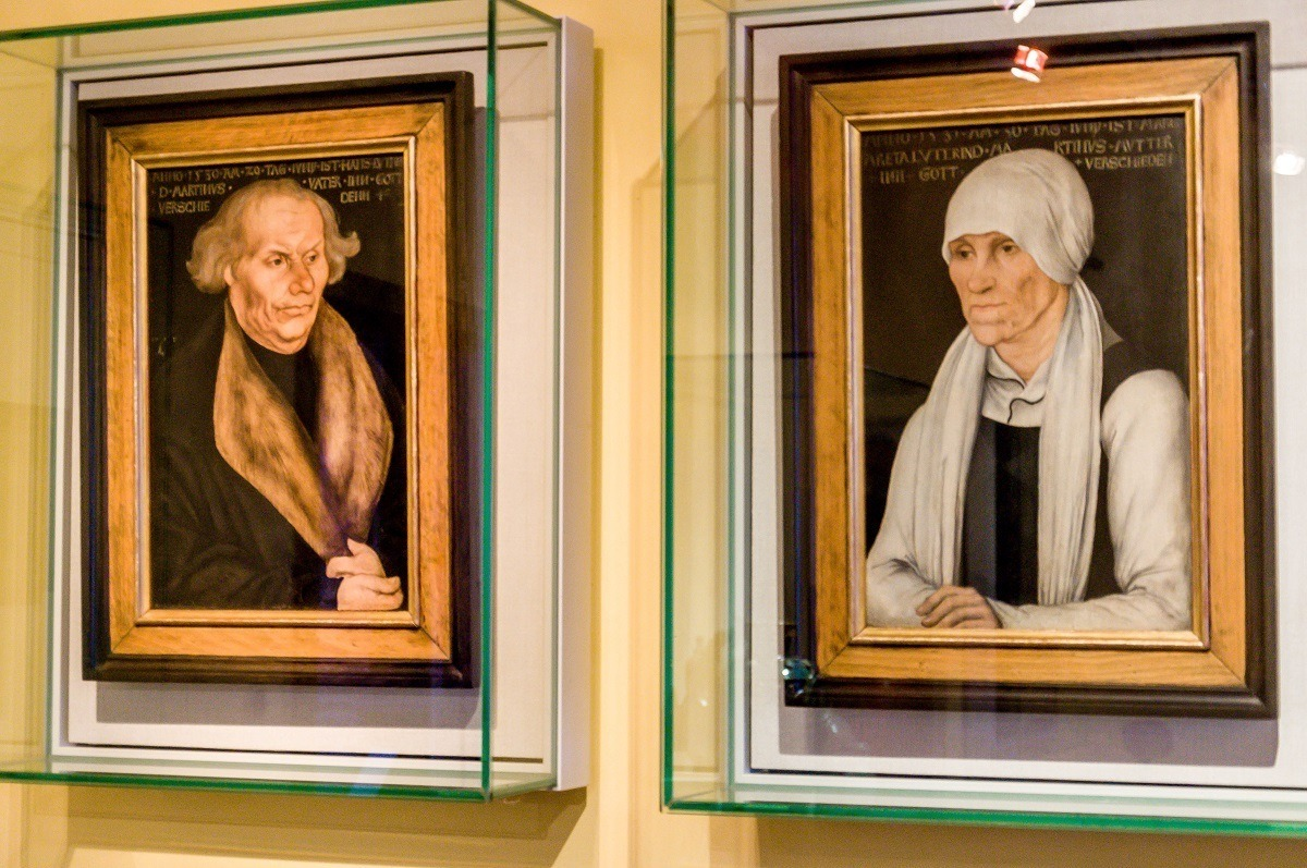 Painting by Lucas Cranach of Martin Luther's parents