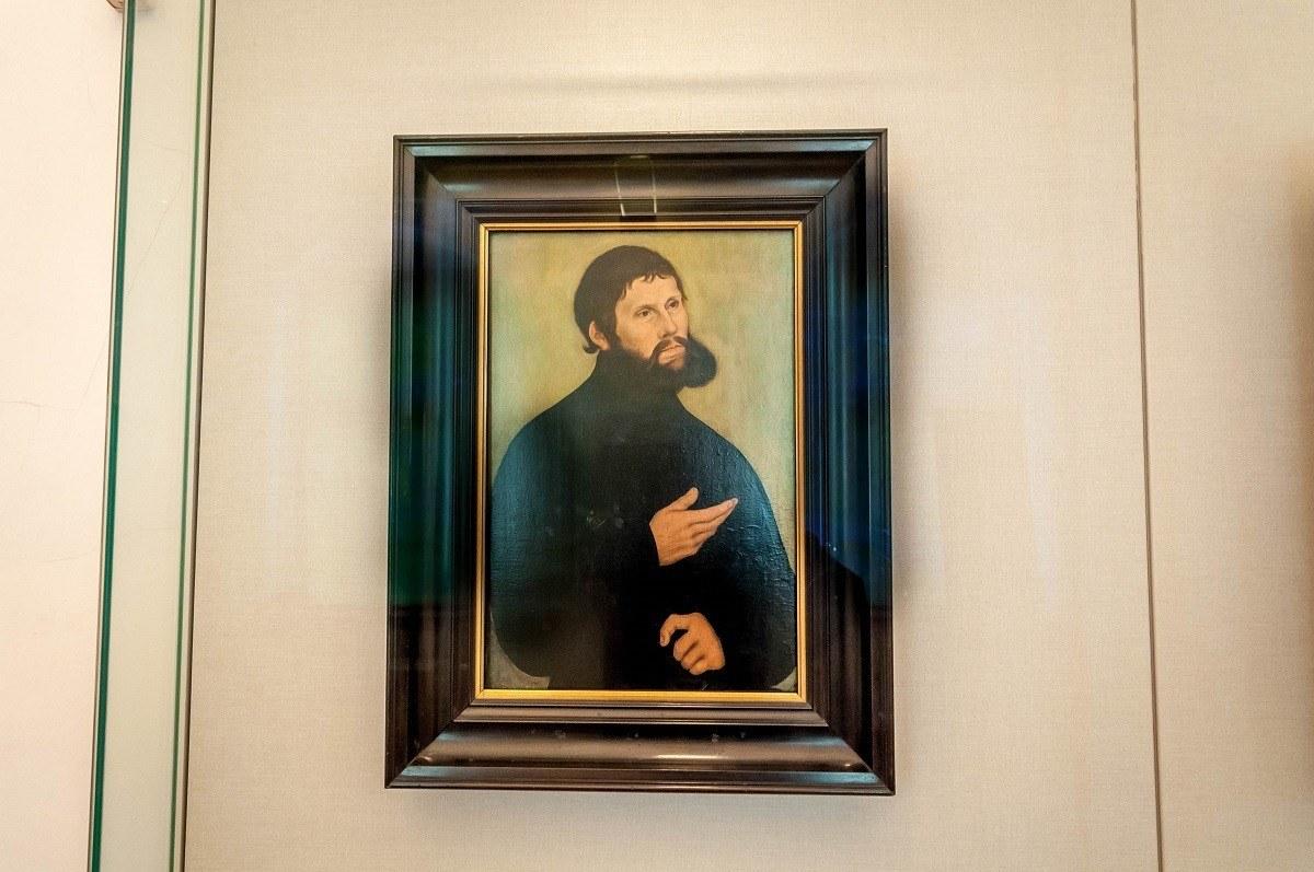 Portrait of Junker Jörg, Martin Luther's persona in hiding