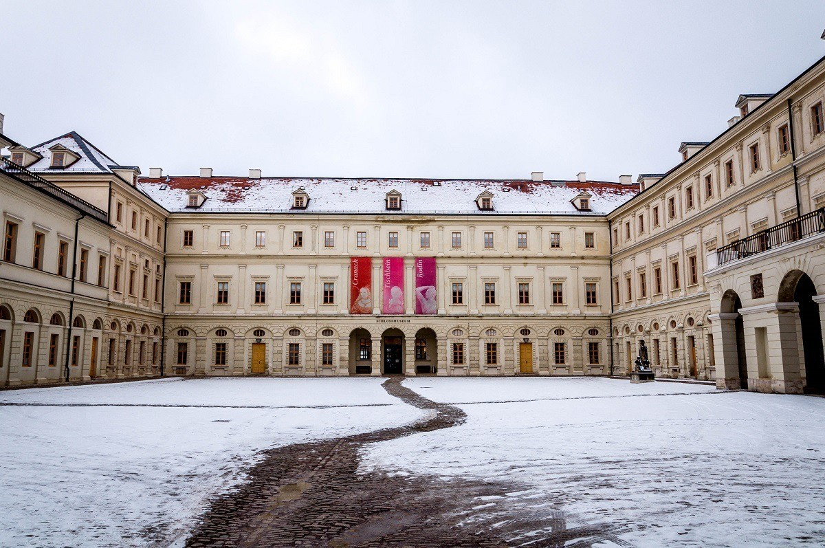 The Weimar Palace with its portrait gallery by Lucas Cranach