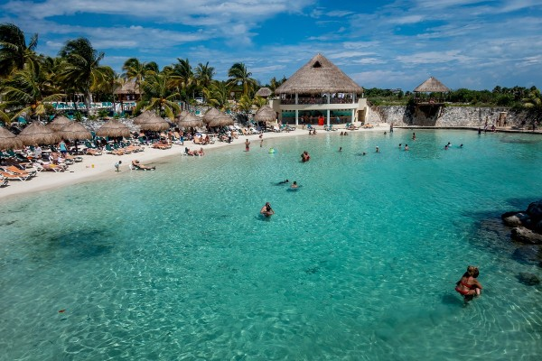 The beach area of the Occidental Grand Xcaret Riviera Maya