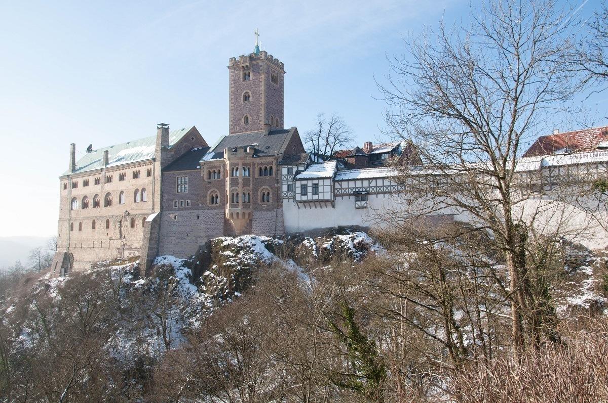 Wartburg Castle above Eisenach where Martin Luther took refuge