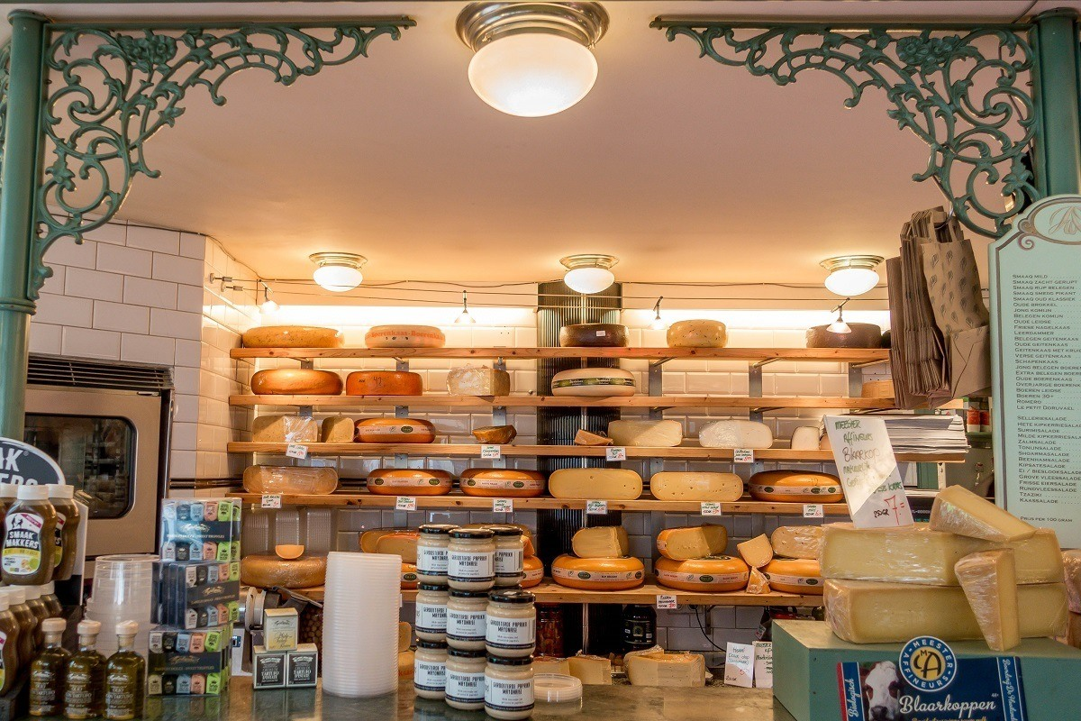 Cheese store in Amsterdam