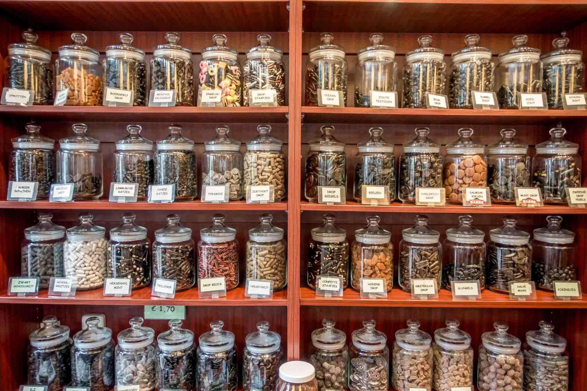 Jars of licorice
