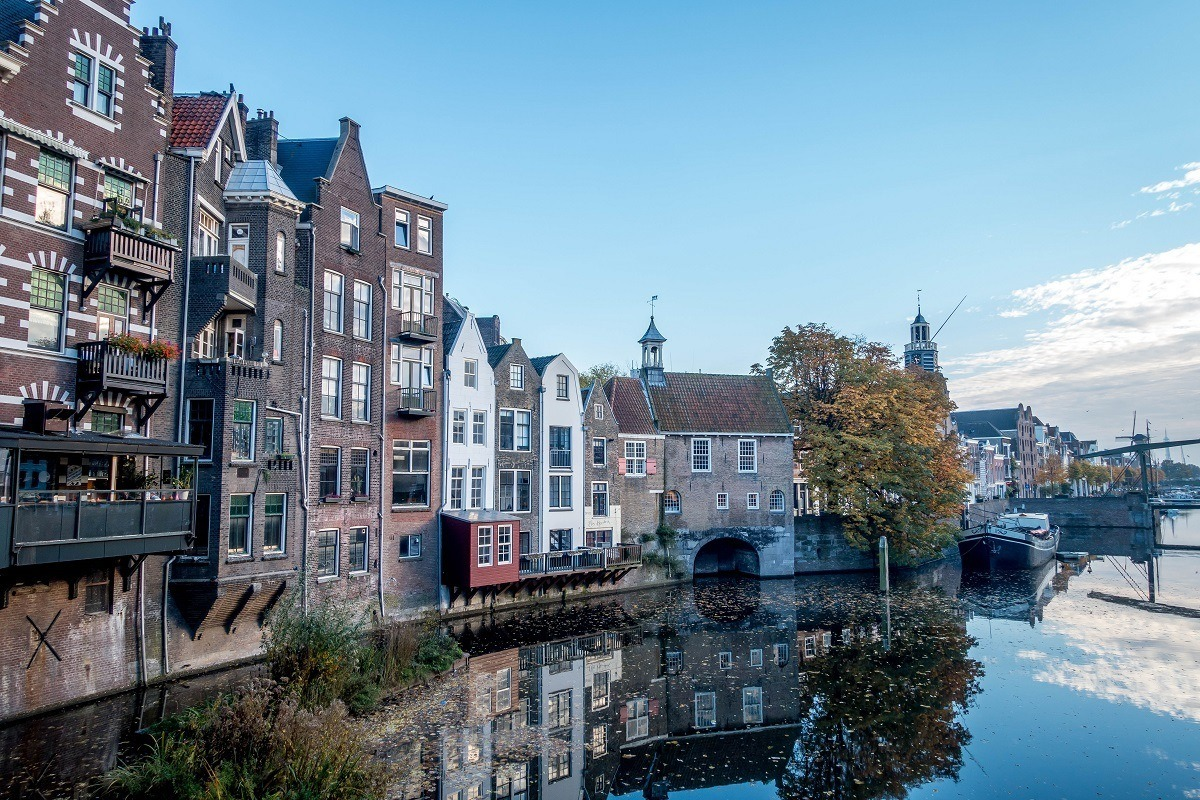 Delfshaven marina in has the oldest buildings and architecture in Rotterdam