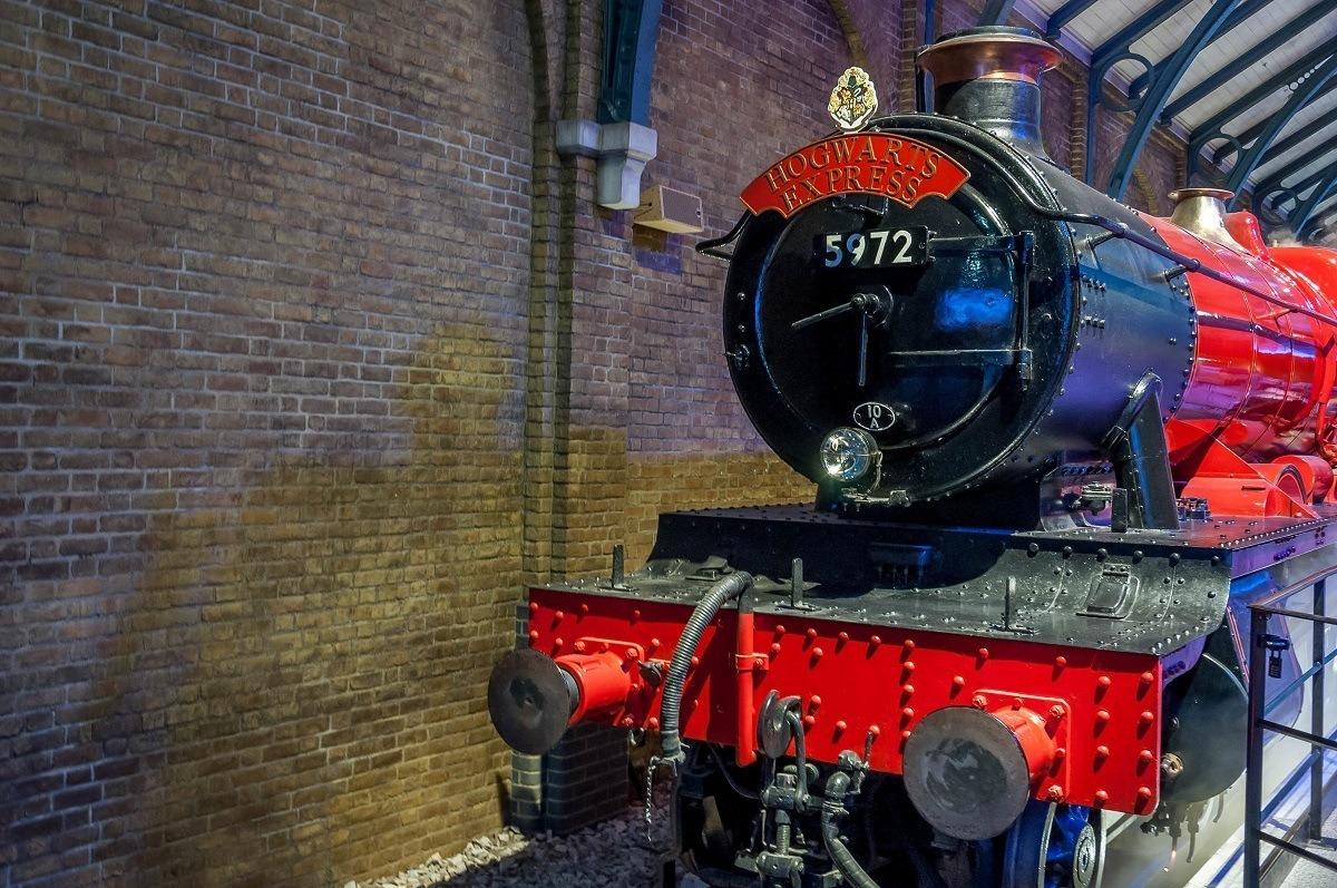 The Hogwarts Express Train on the Harry Potter Studio Tour