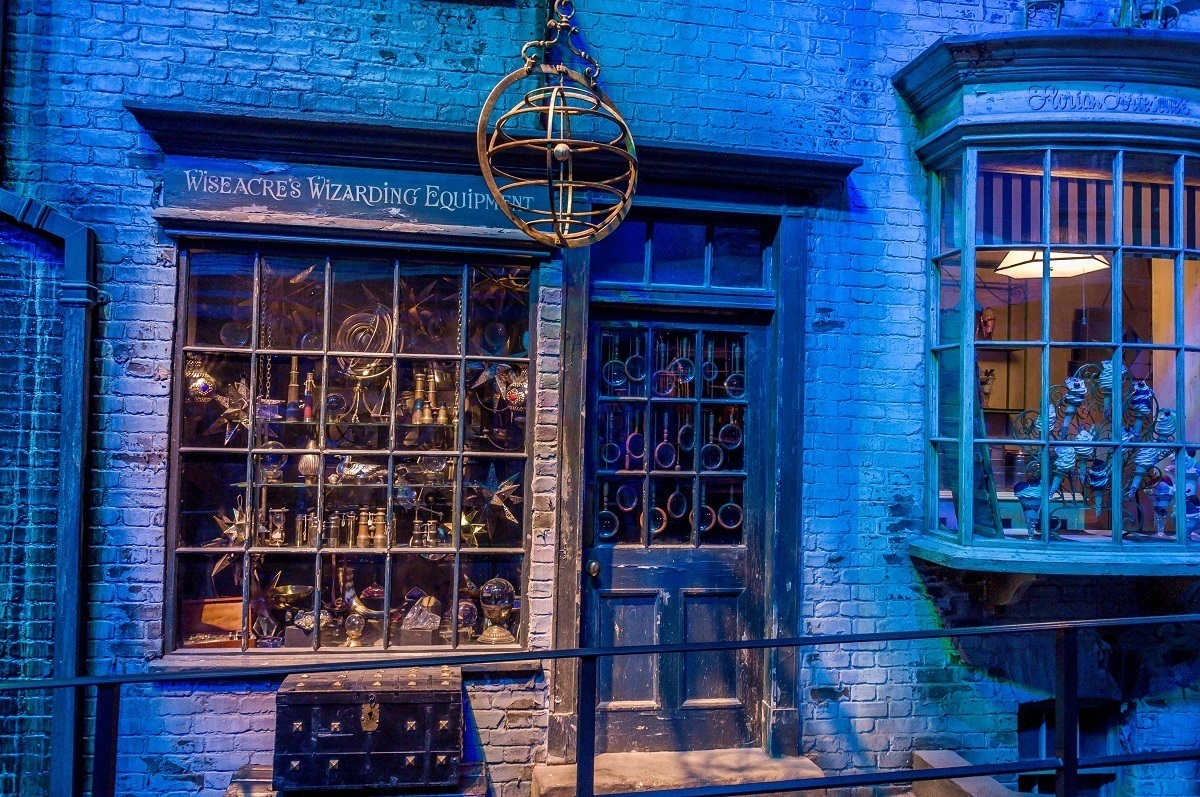 One of the stores in Diagon Alley