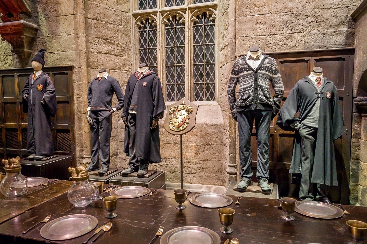 The costumes worn by Harry Potter, Neville Longbottom and others