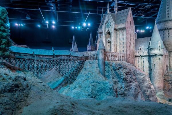 The Hogwarts Castle Model on the Harry Potter Studio Tour.