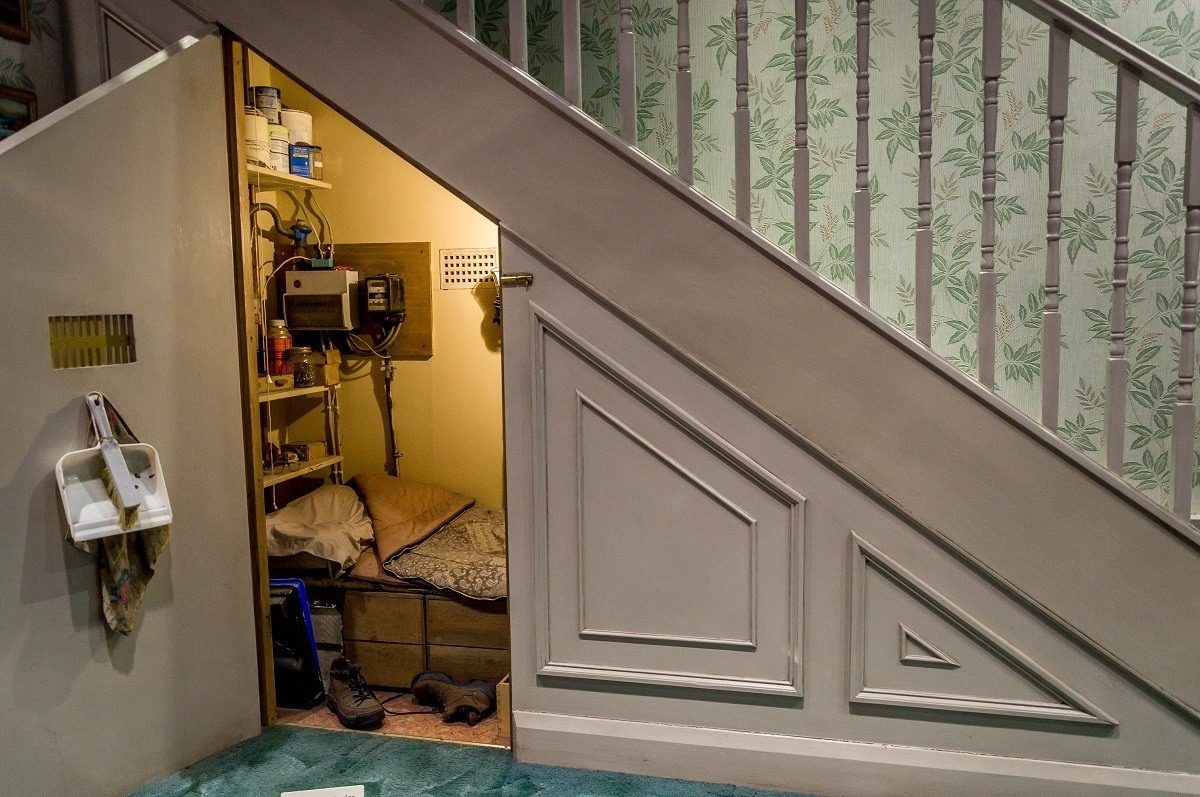 The Harry Potter cupboard under the stairs on Privet Drive