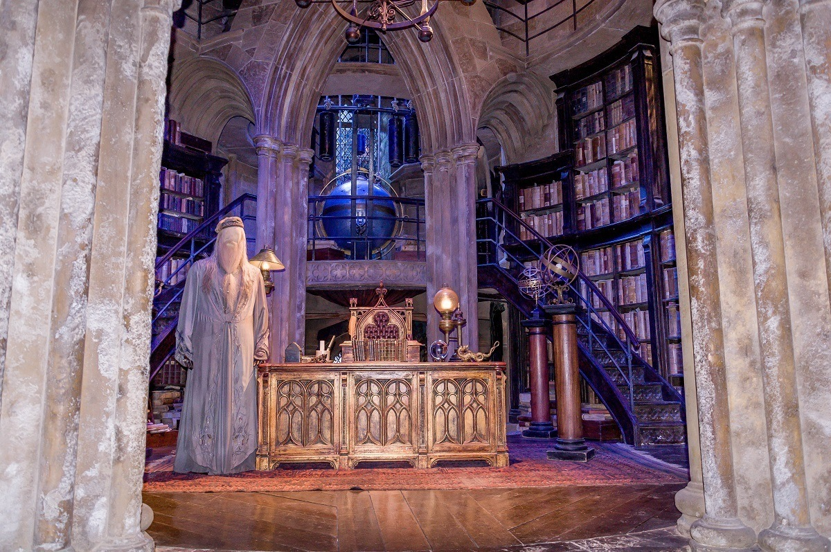 The set for Dumbledore's office