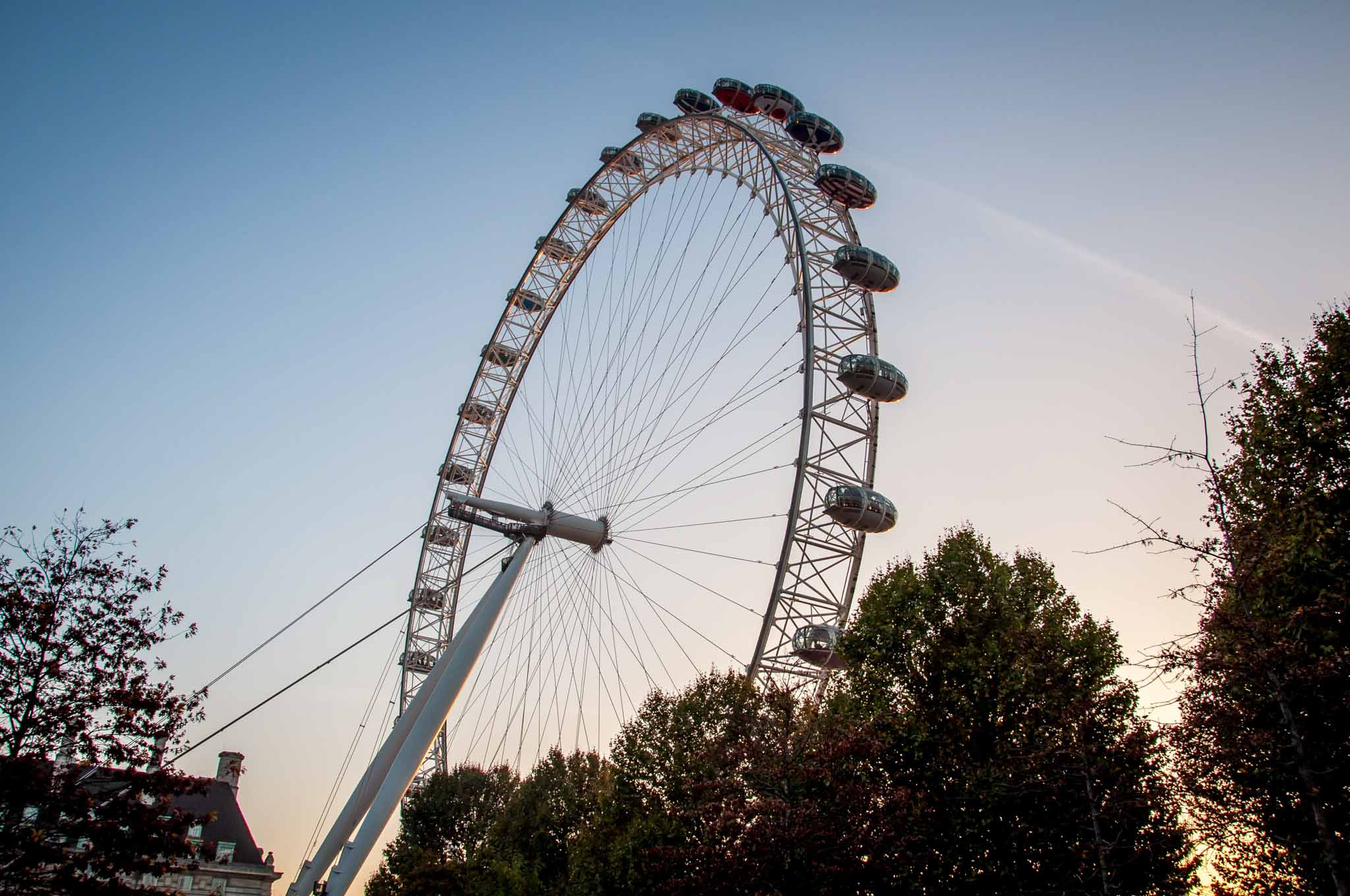 The London Eye, an icon on London's South Bank of the Thames River