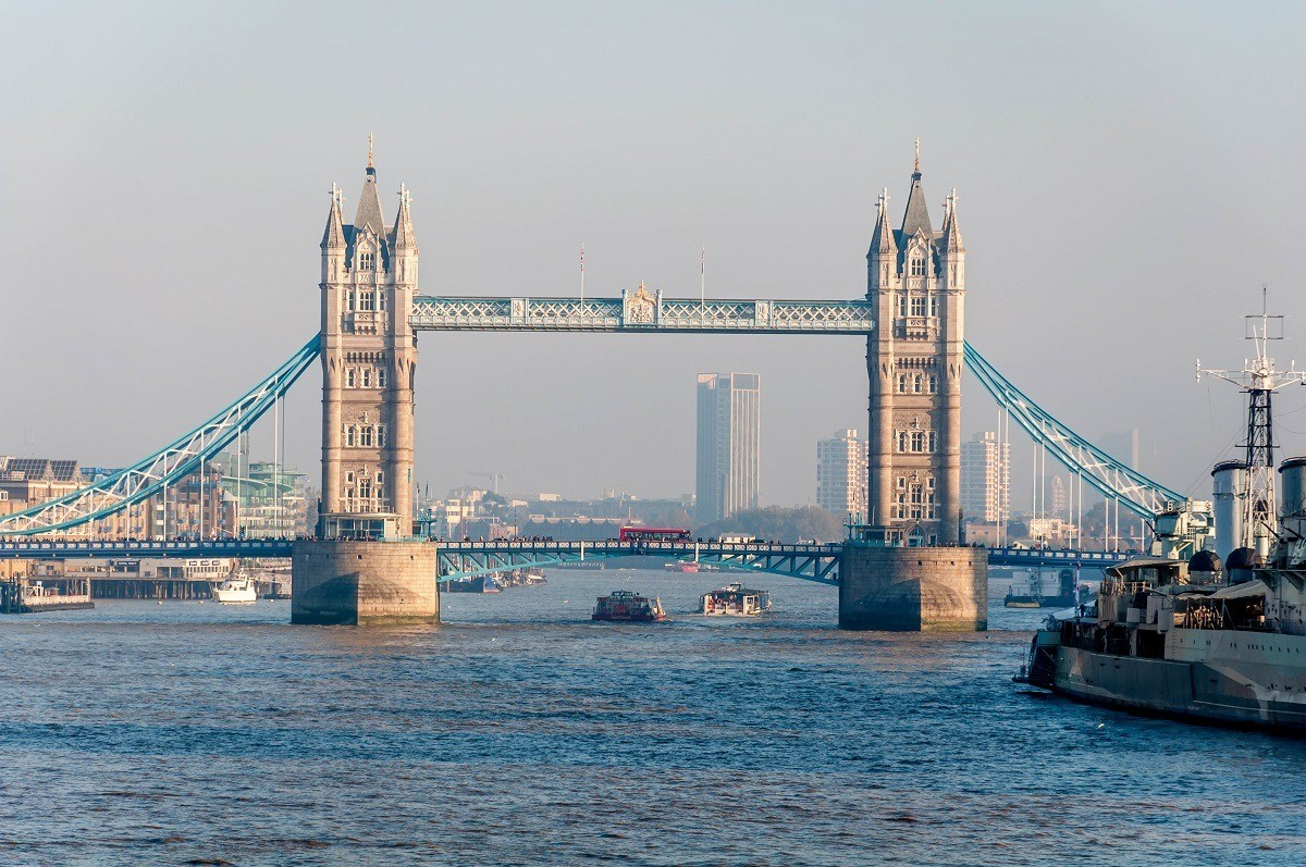 The Tower Bridge over the Thames River