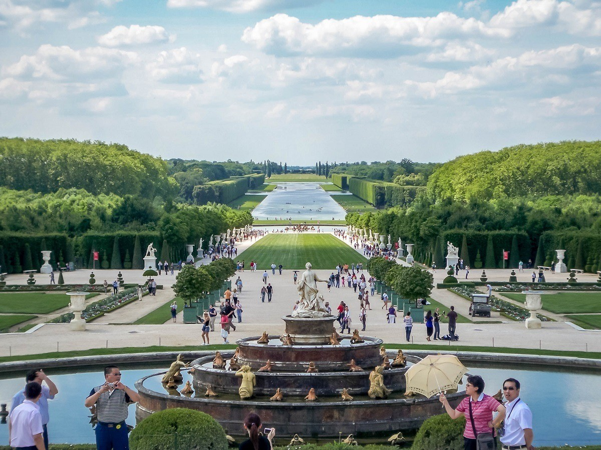 The gardens at the Palace of Versailles in France