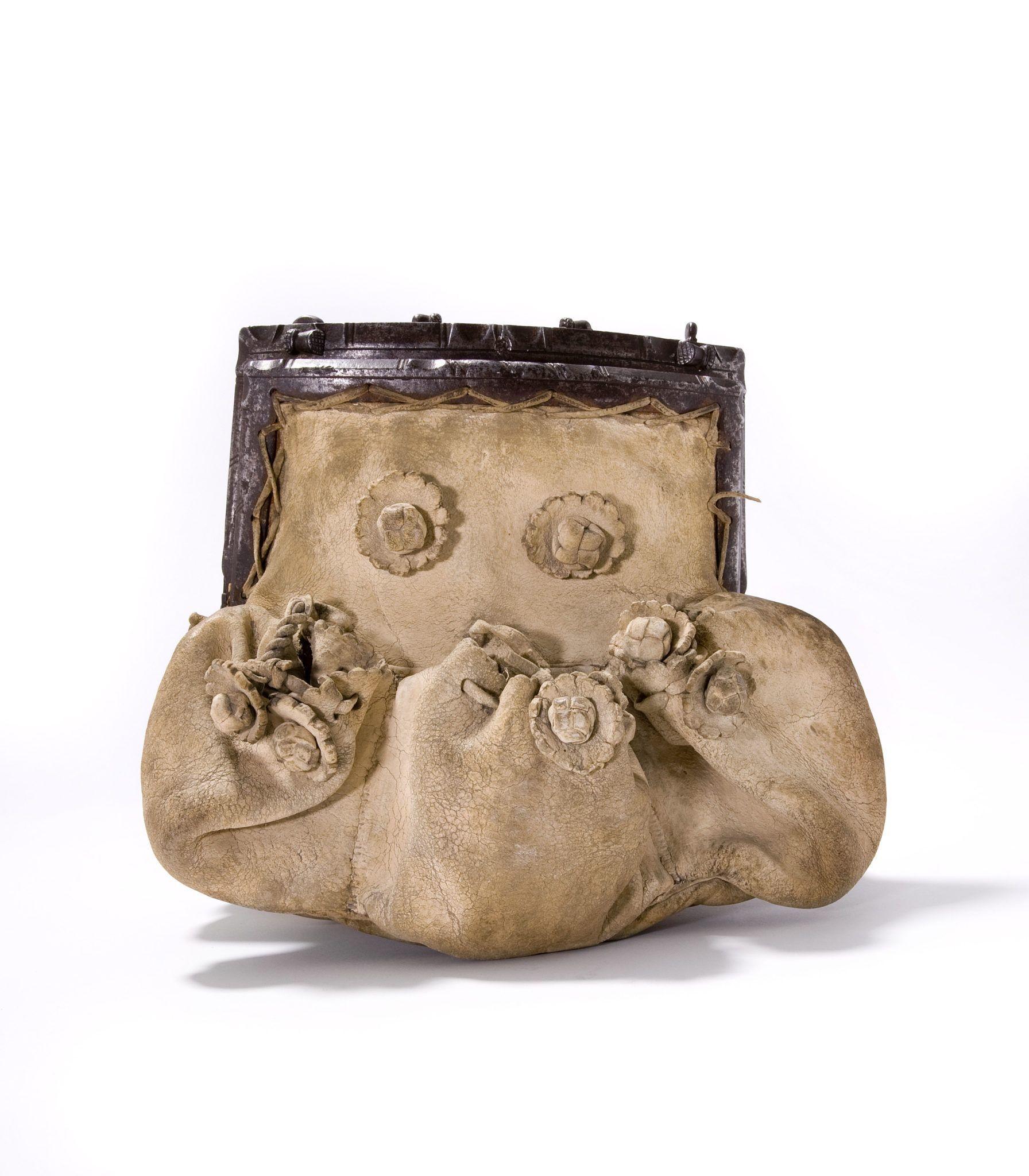 This 16th century men's goatskin bag