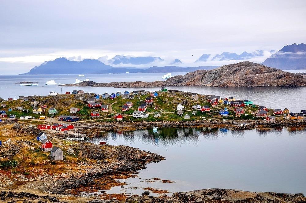 Colorful houses along a coastline