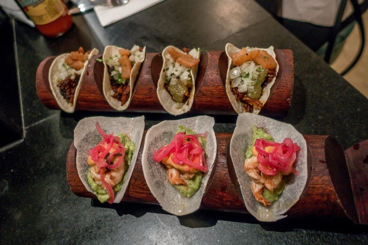 The tacos at Bodega Negra in Soho