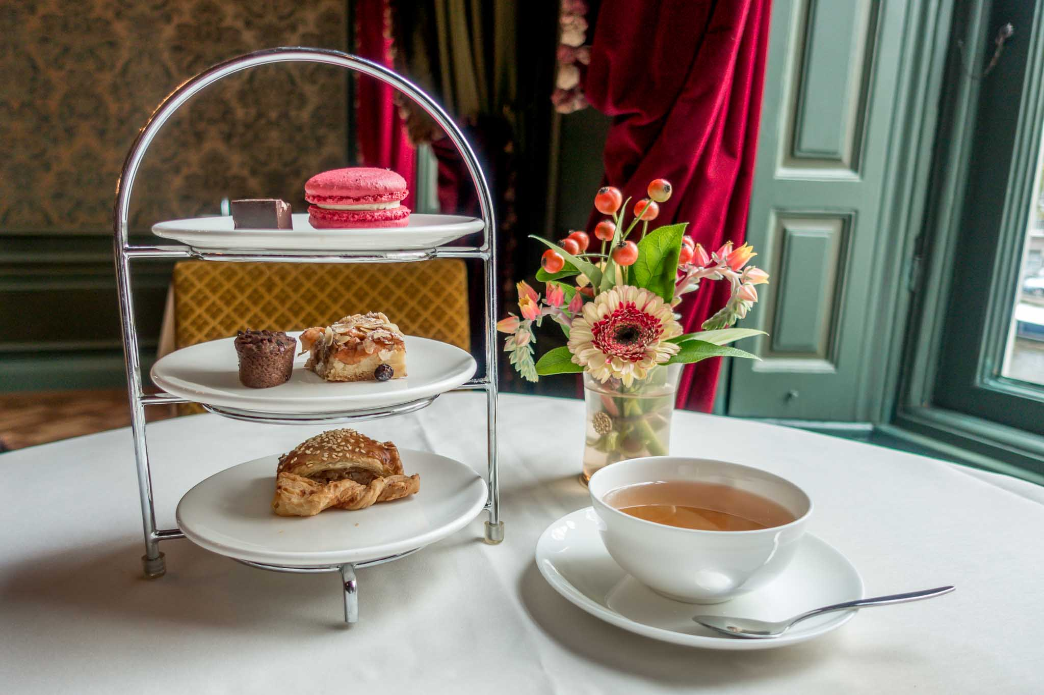 Pastries and tea for High Tea at the purse museum