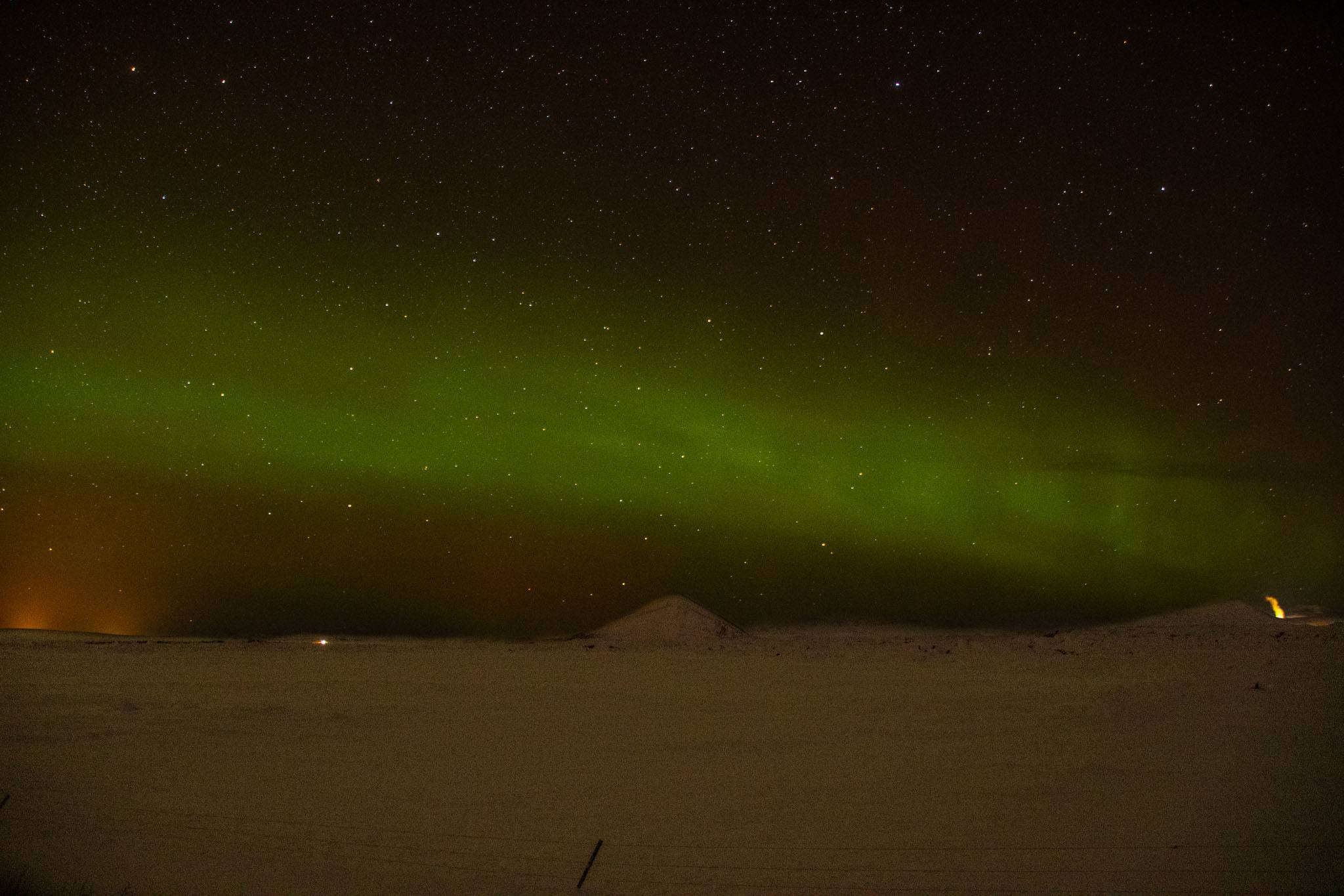 Seeing the northern lights in Northern Iceland