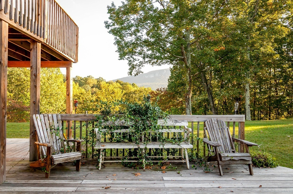 Adirondack chairs on the back porch