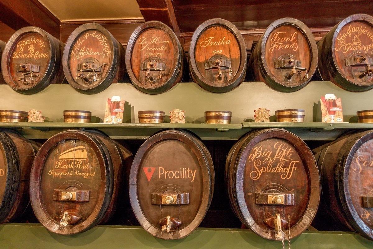Barrels of genever