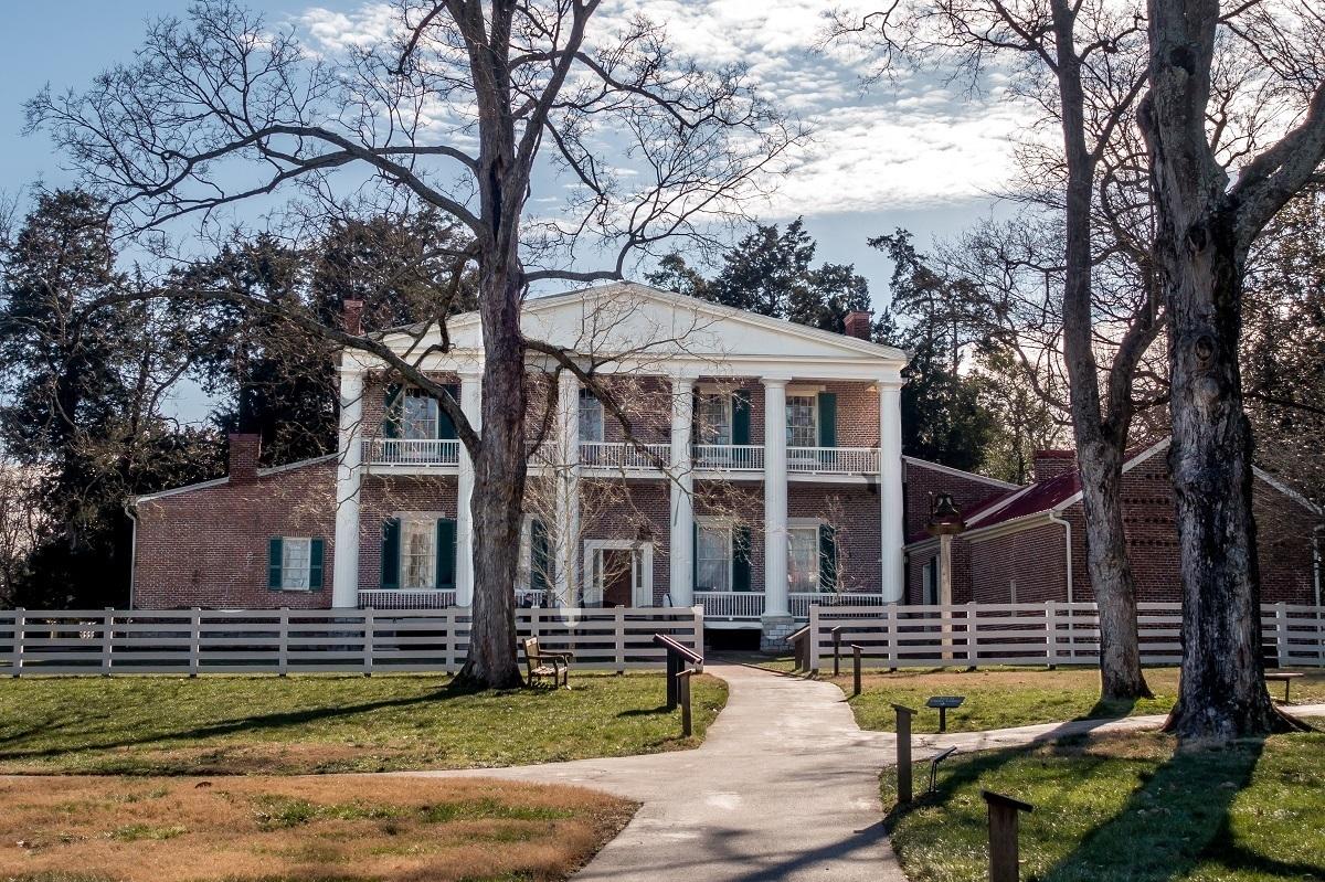 Back of Andrew Jackson's Hermitage outside of Nashville