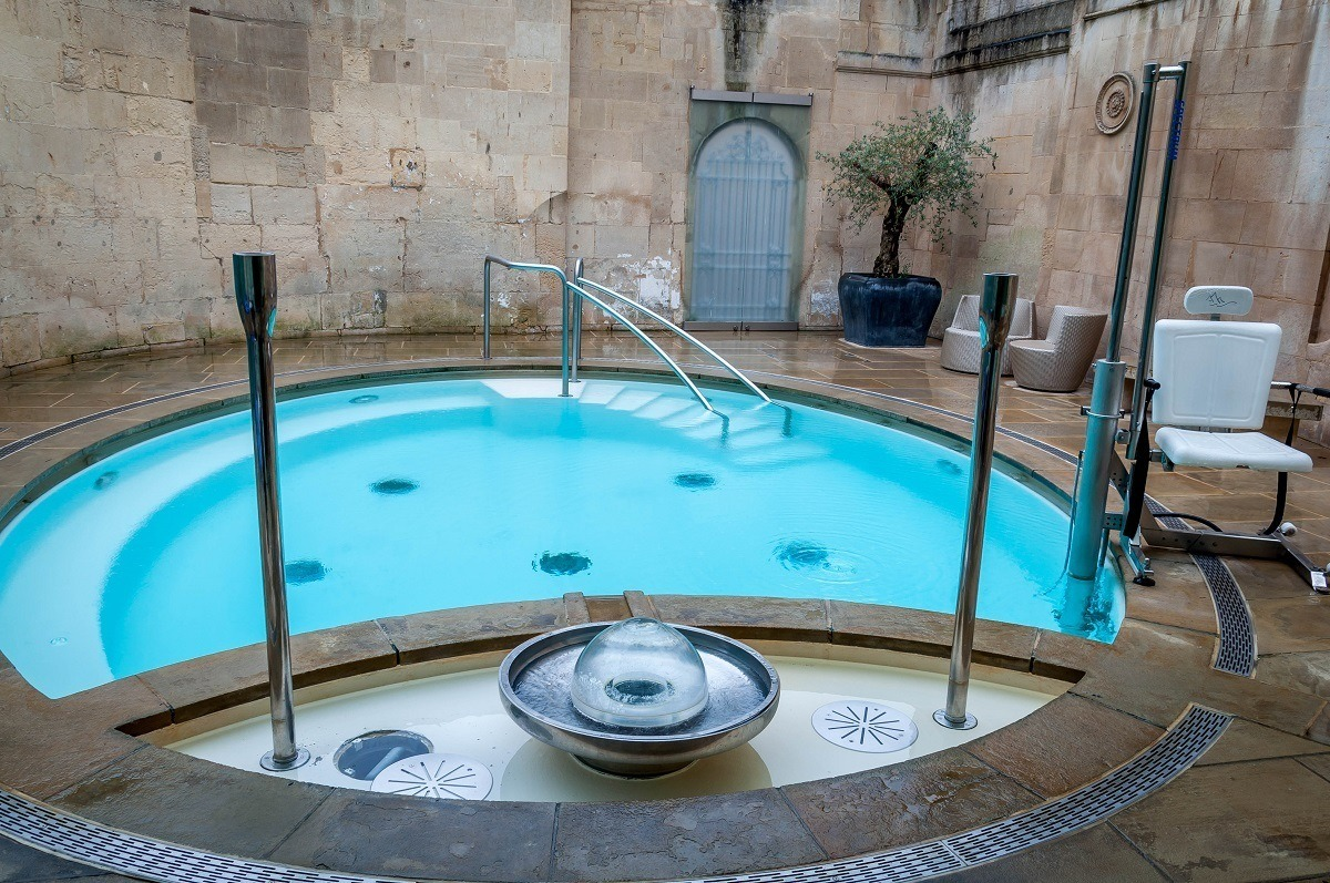 The small Cross Bath at the Thermae Spa