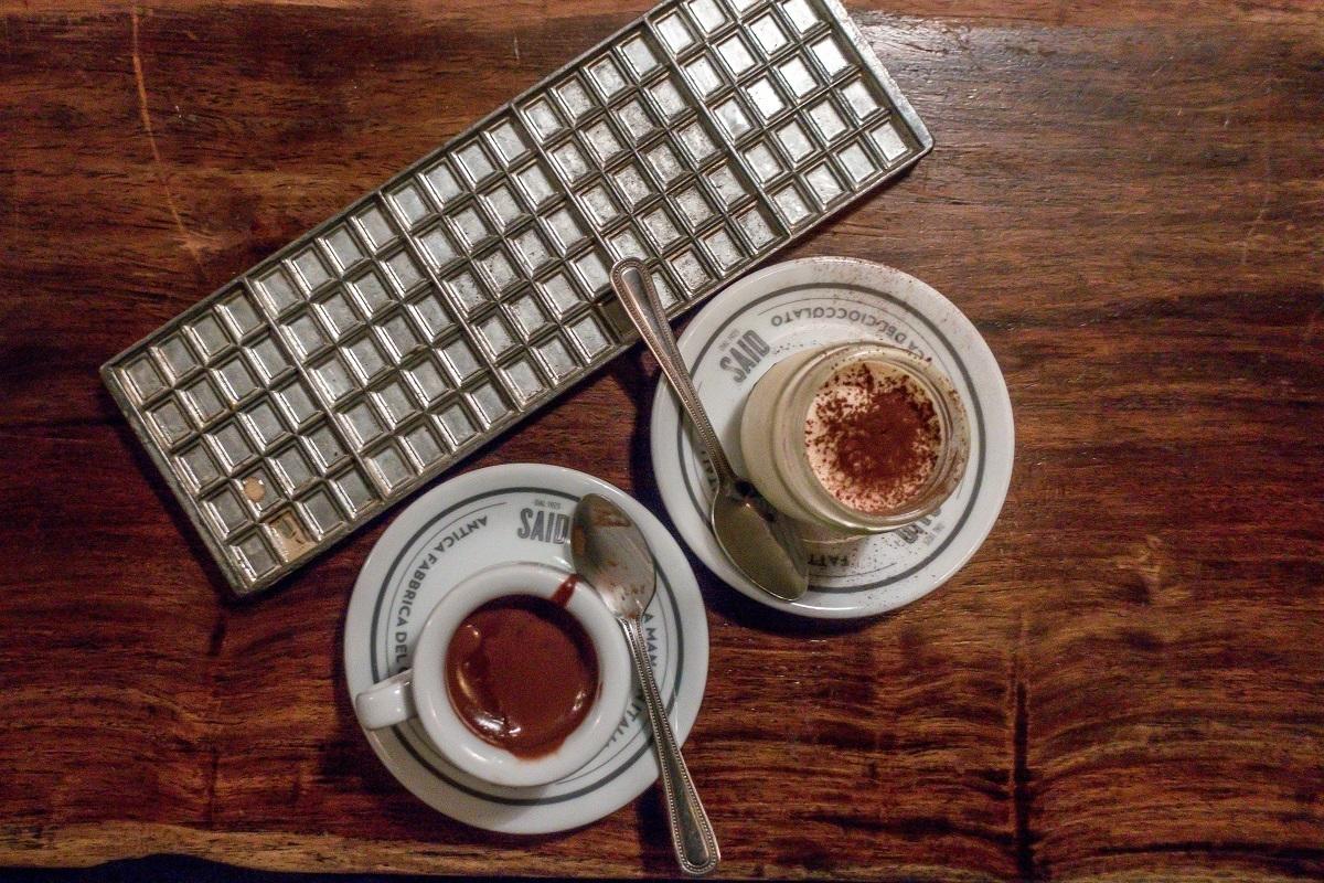 The hot chocolate and tiramisu at Said in London