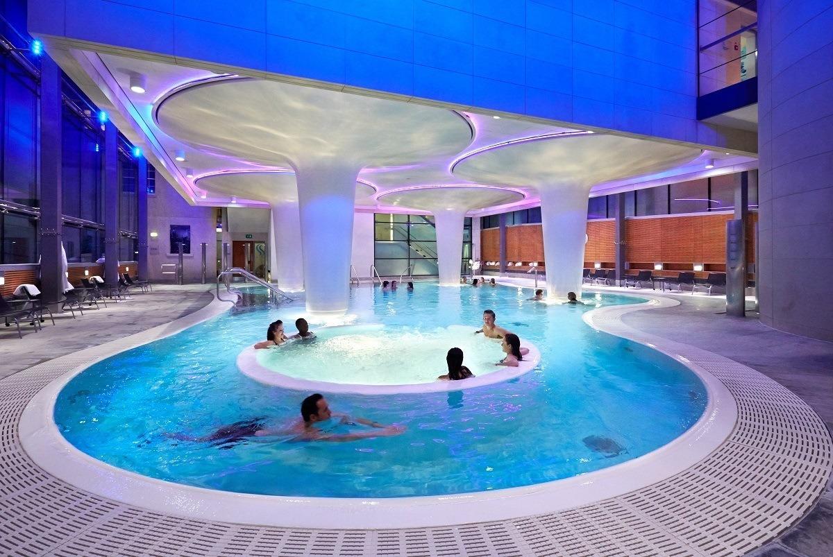 People in the Minera Bath pool