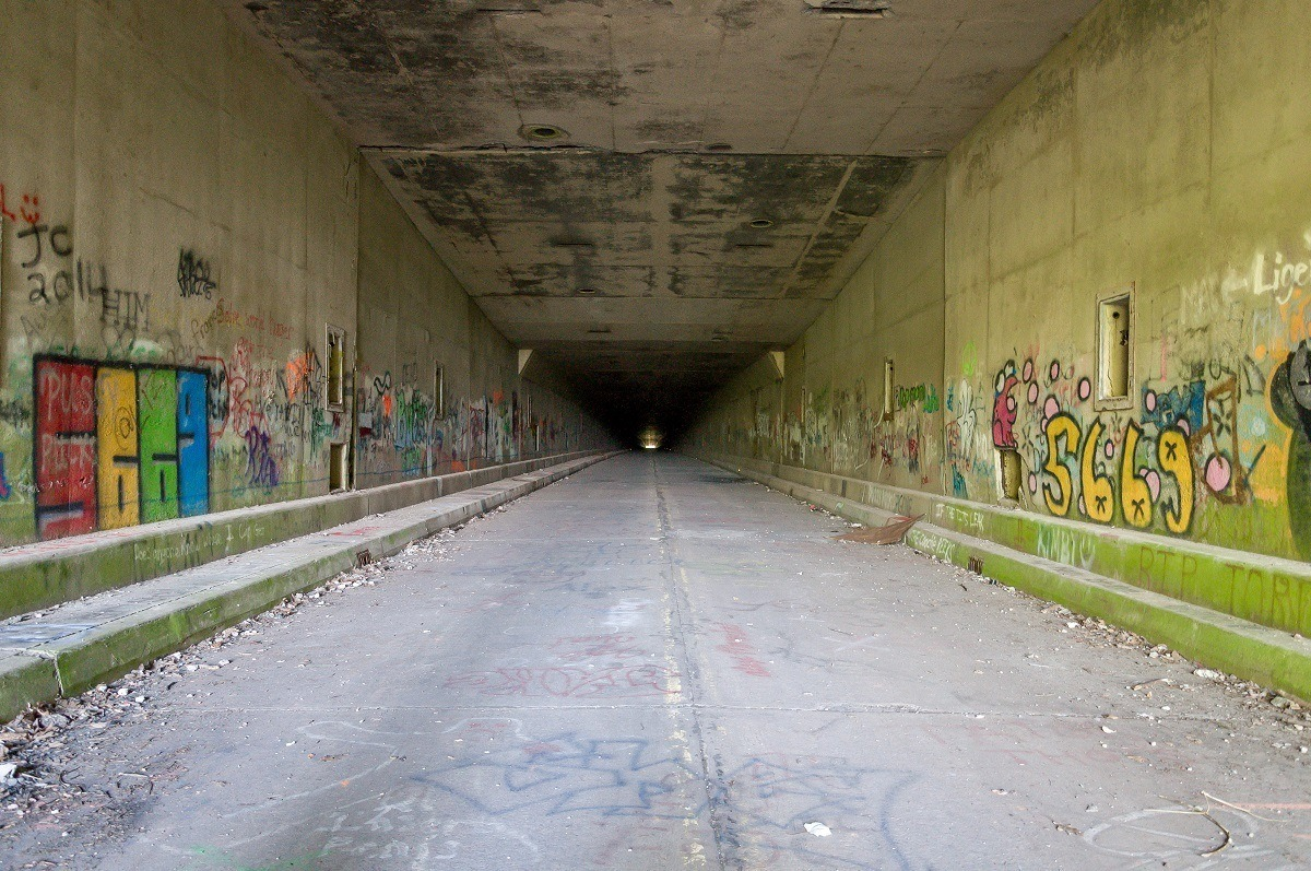 Rays Hill Tunnel, one of the abandoned PA Turnpike tunnels