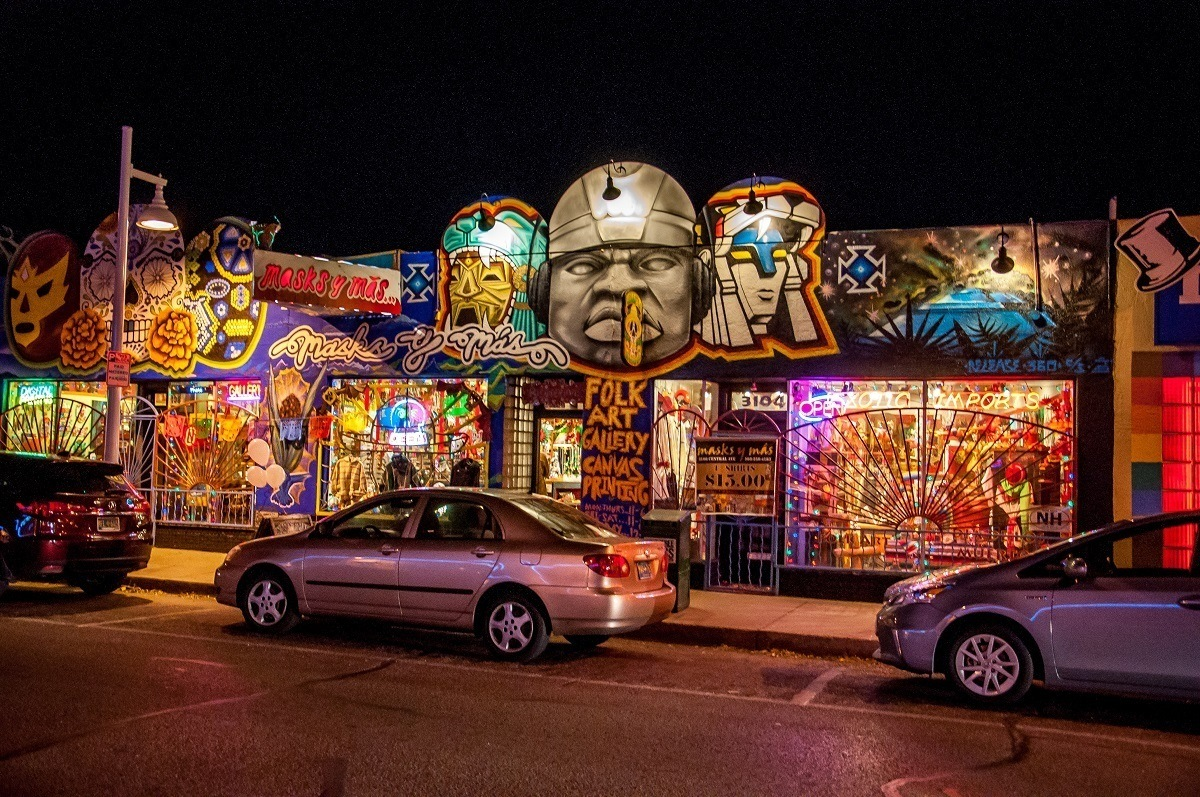 The stores in the funky Nob Hill neighborhood in Albuquerque