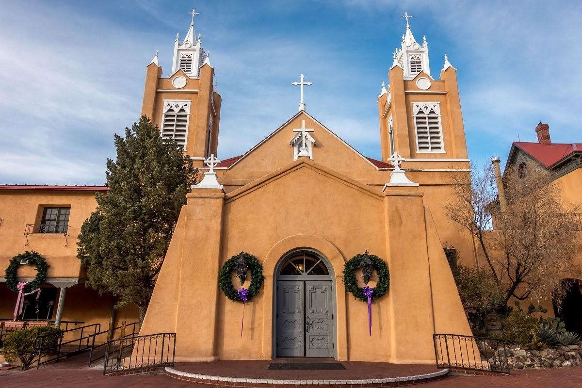 The San Felipe de Neri church in Old Town Albuquerque