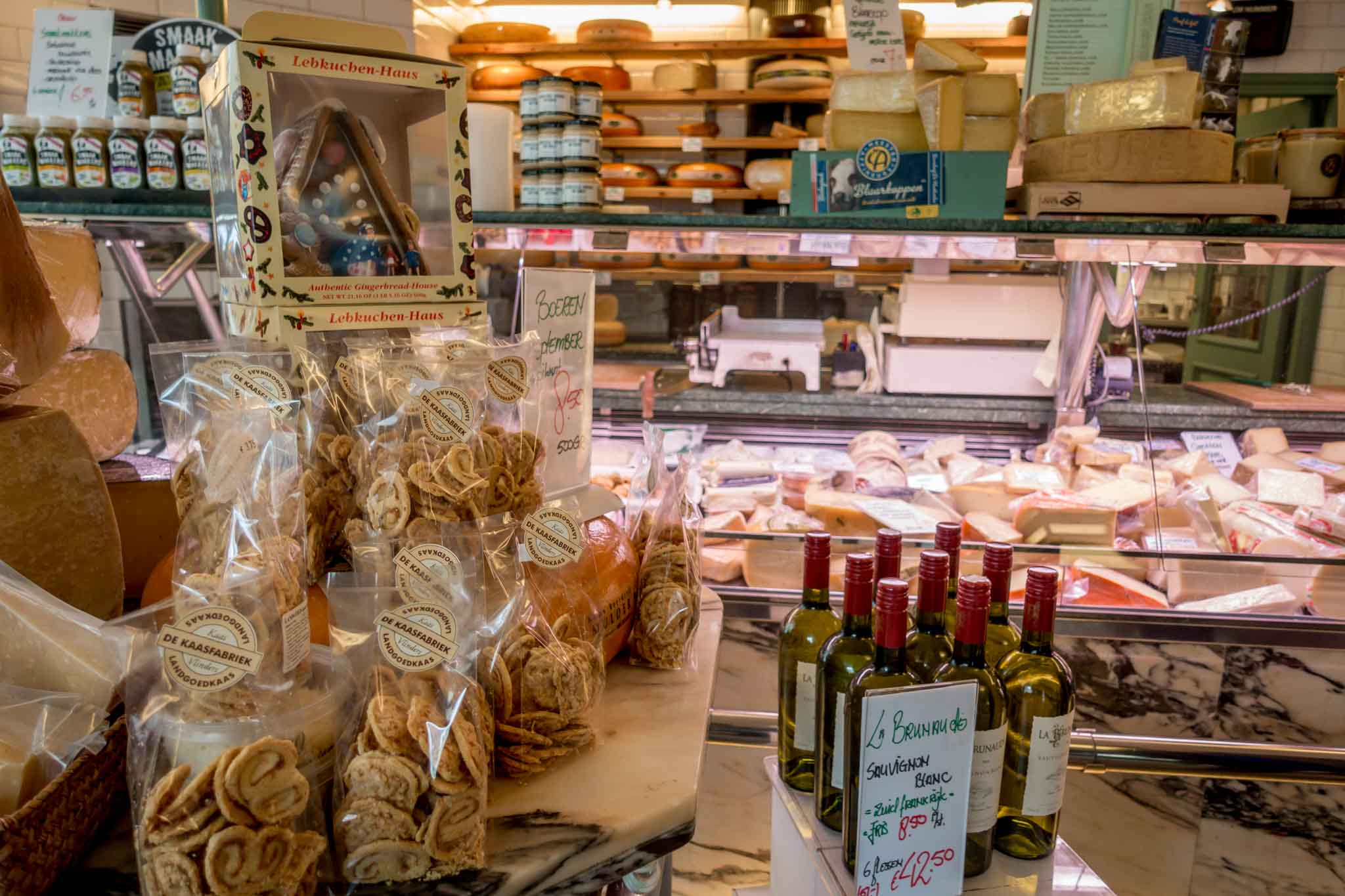 Store full of traditional Dutch food like cheese and pastries