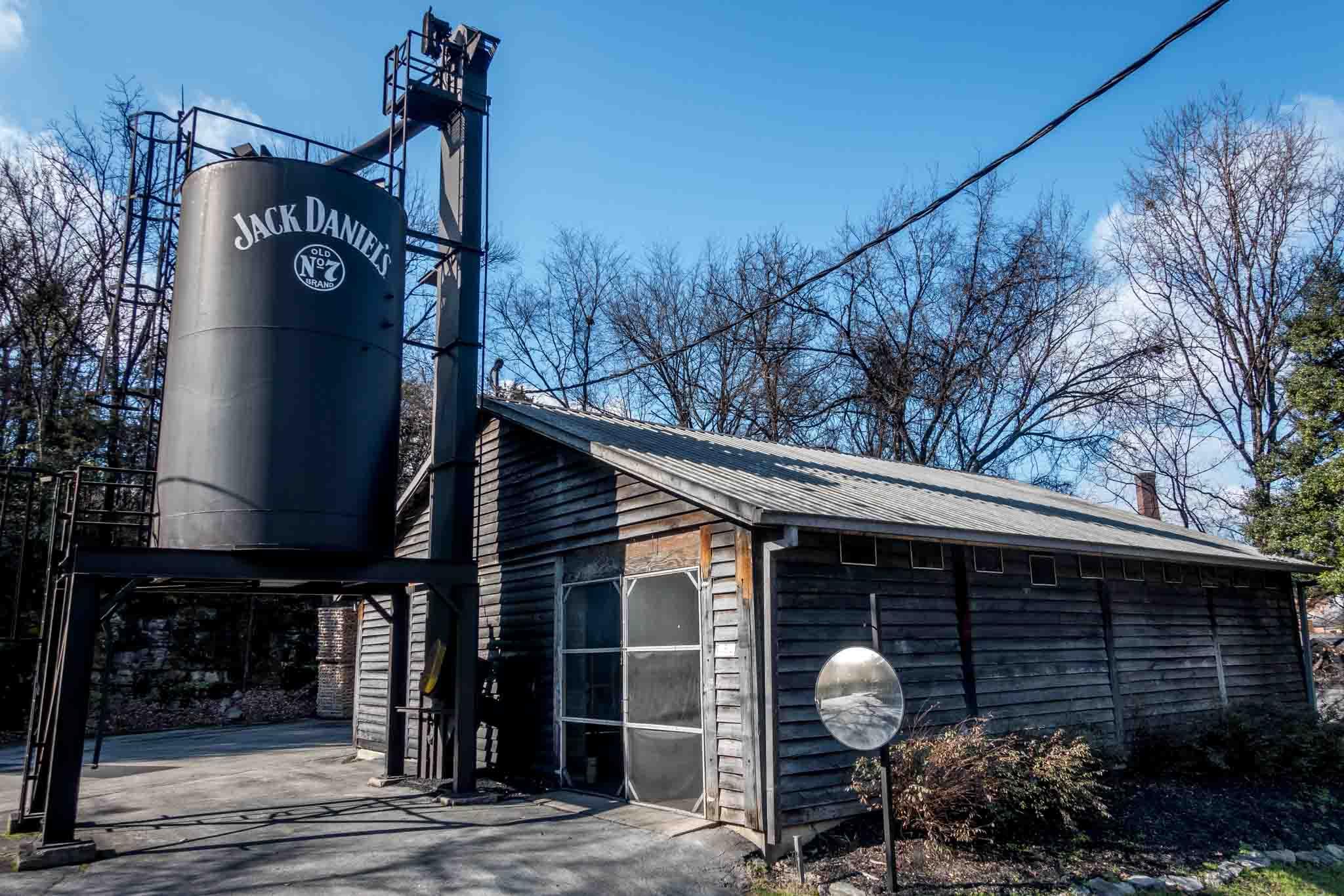 One of the buildings at Jack Daniels distillery