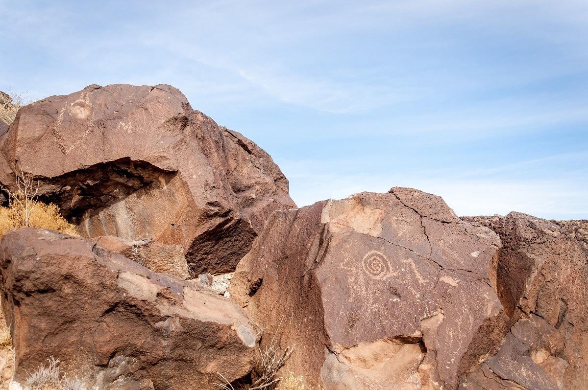 Petroglyphs on rocks
