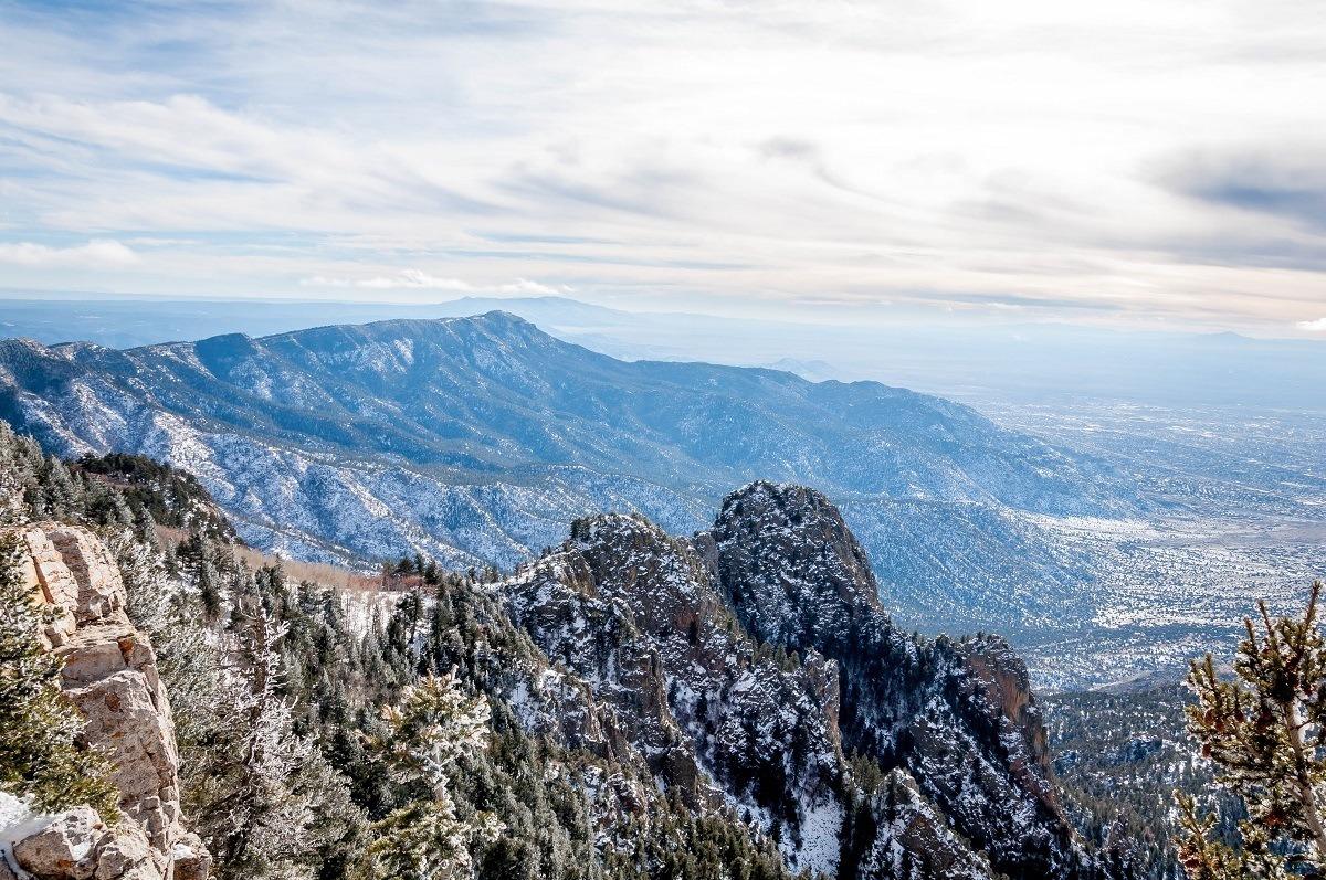 View from top of Sandia Peak in Albuquerque