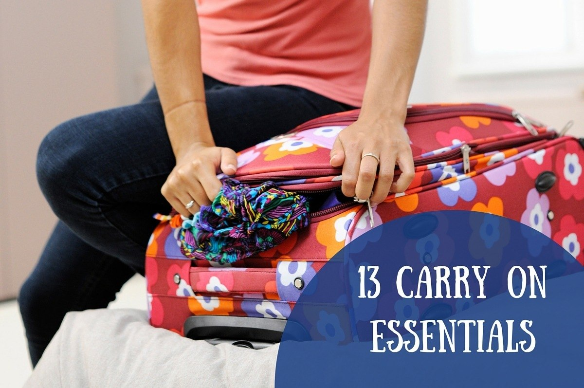 13 carry on essentials for your next trip