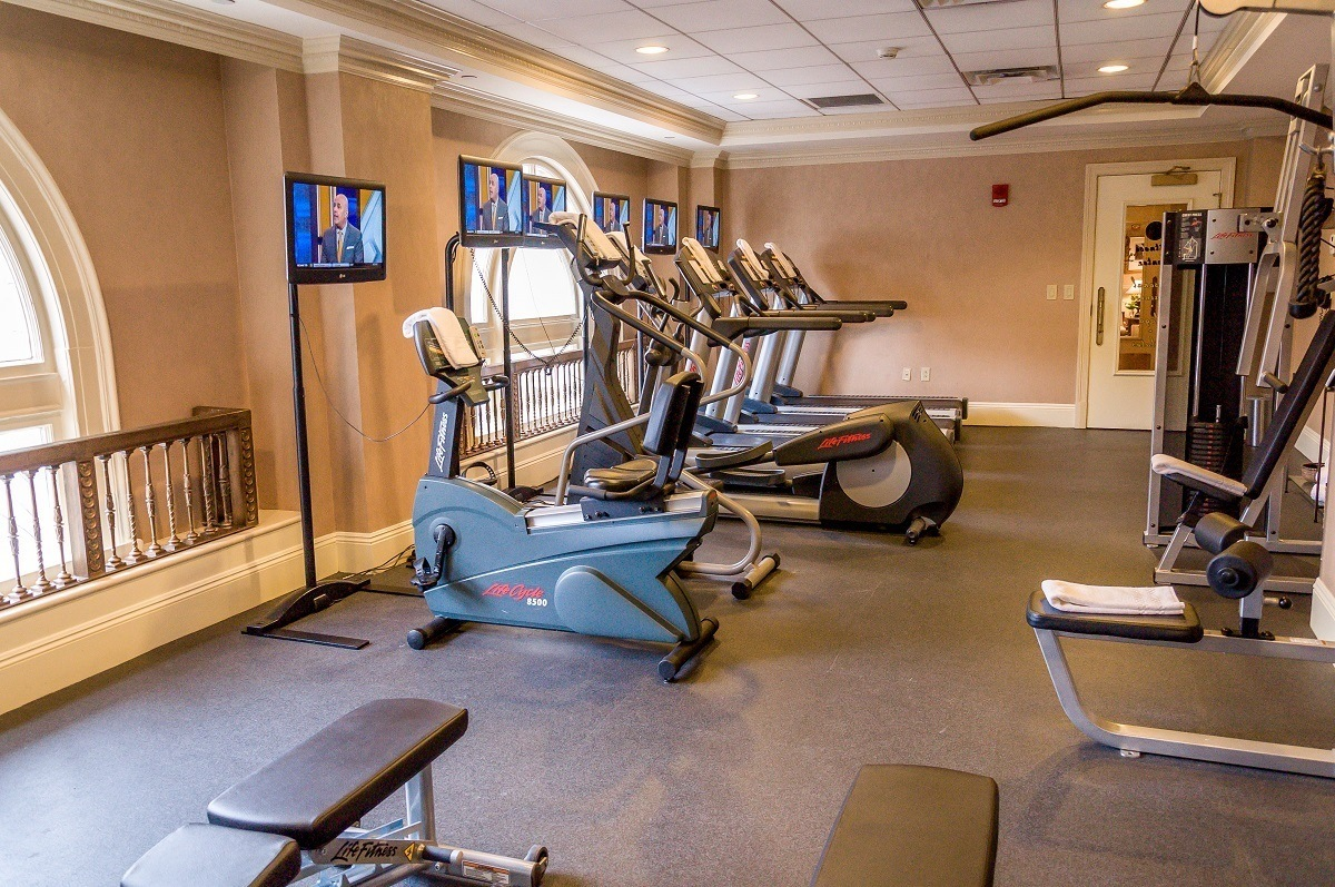 The hotel's gym