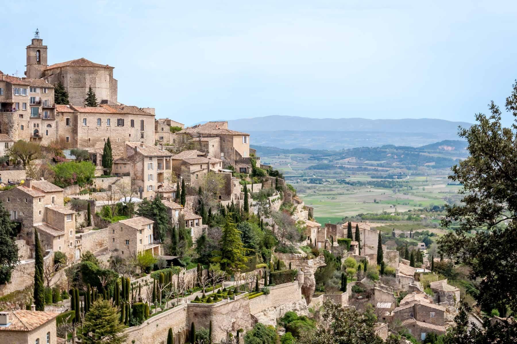 Town built on a hillside