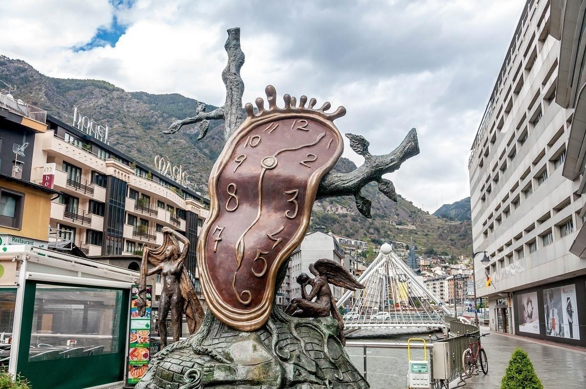 This Dali-inspired clock sculpture