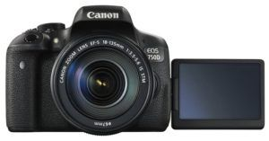 Canon's 750D DSLR camera is a popular choice for a travel camera.