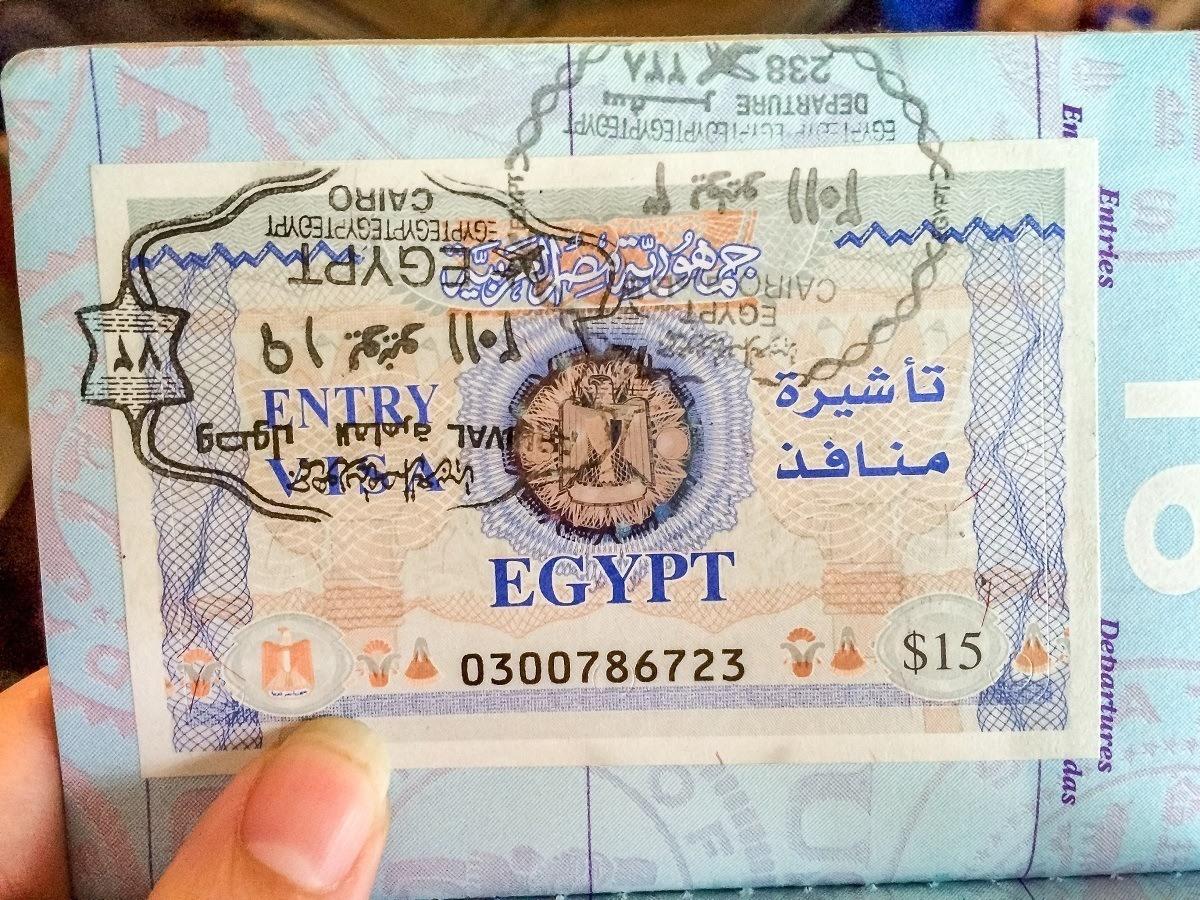 Stamped entry visa