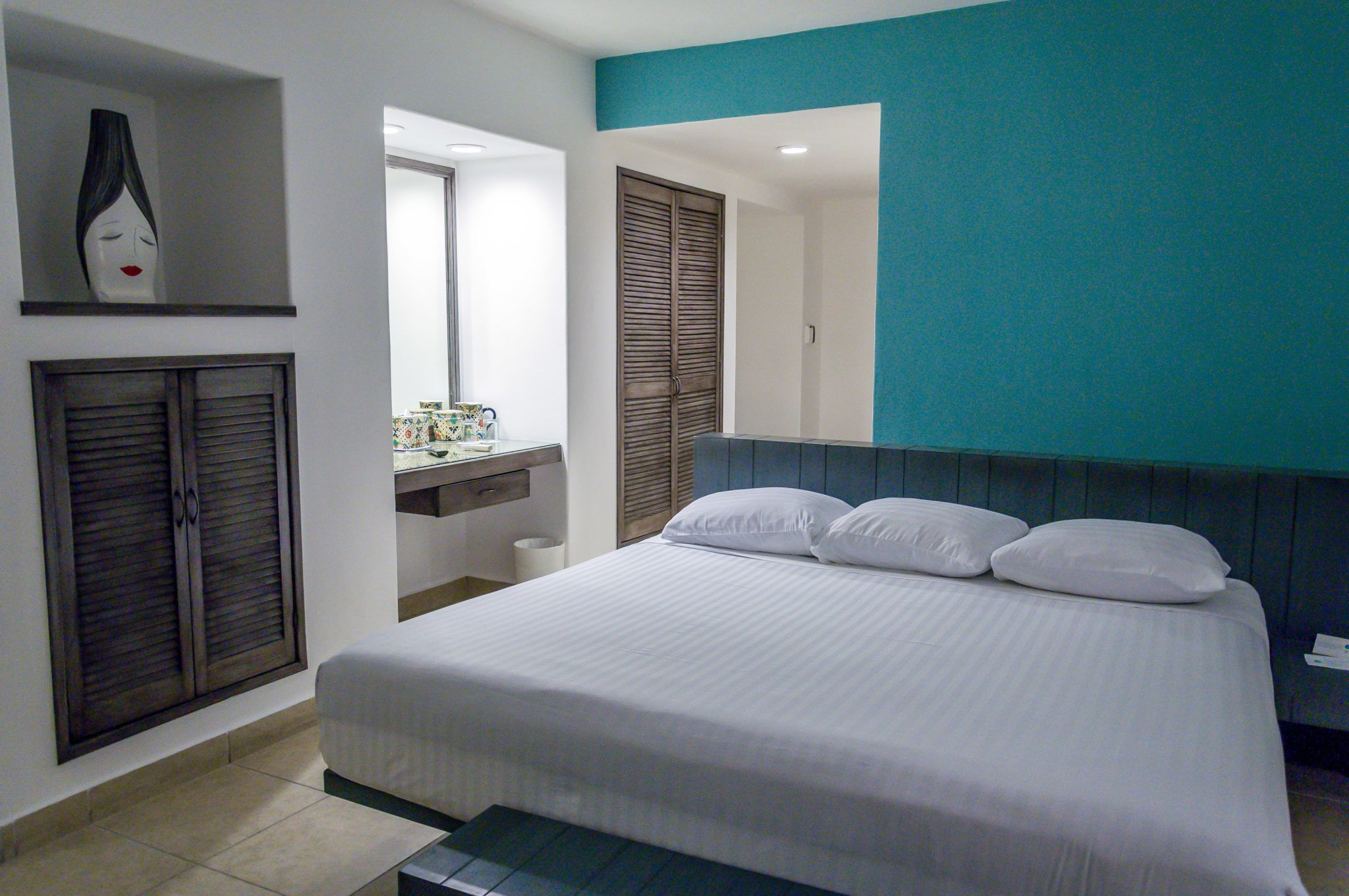 The bedrooms at the Hotel B Cozumel