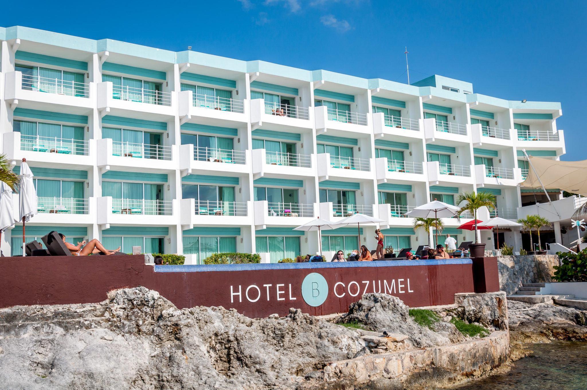 The beachfront Hotel B Cozumel