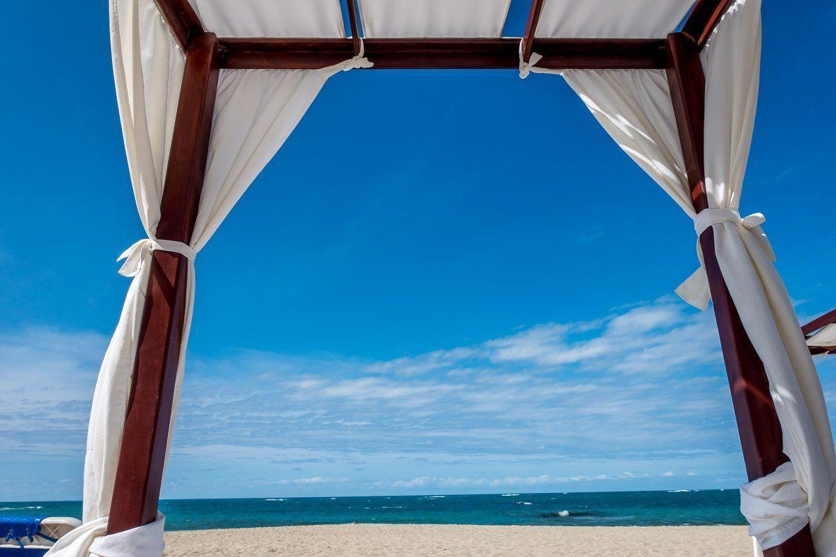 Relaxing on Playa Dorada in the Dominican Republic