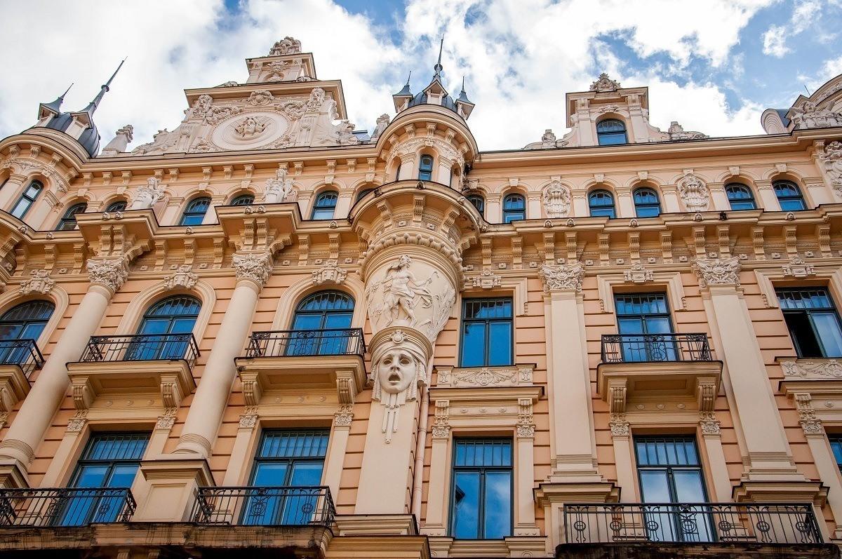 Art Nouveau building in the historic center of Riga